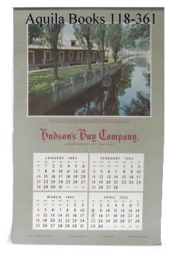 Aquila Books - Original Hudson's Bay Company Calendars Publications